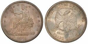 1876 S $1. TRADE DOLLAR. PCGS MS64 . CAC.