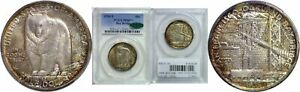 Click now to see the BUY IT NOW Price! 1936 S BAY BRIDGE SILVER COMMEMORATIVE PCGS MS 67  CAC