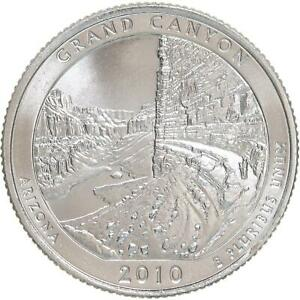 2010 P PARKS QUARTER GRAND CANYON AMERICA THE BEAUTIFUL SATIN FINISH