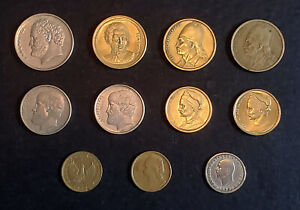 WORLD COINS   GREECE   LOT OF 11 COINS MULTIPLE YEARS AND CONDITIONS. BIDDING
