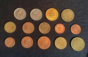 WORLD COINS   GERMANY   LOT OF 14 COINS MULTIPLE YEARS AND CONDITIONS.