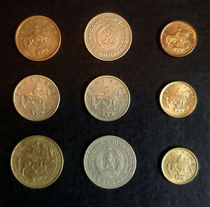 WORLD COINS   BULGARIA   LOT OF 9 COINS MULTIPLE YEARS AND CONDITIONS