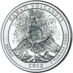2012 P&D HAWAII VOLCANOES STATE PARK 2 QUARTER SET UNCIRCULATED