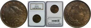 1820 LARGE CENT NGC MS 66 BN