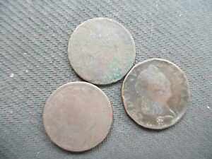 WORLD COINS. UNIDENTIFIED. 3 PIECES. LOT  1 22 7