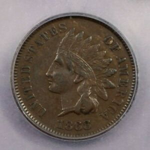 1868 P 1868 INDIAN CENT STREAKED ALLOY 1C ICG VF35