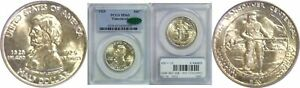 1925 FT. VANCOUVER SILVER COMMEMORATIVE PCGS MS 65 CAC