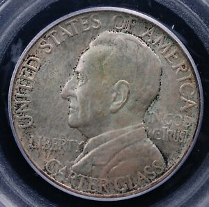 1936 LYNCHBURG COMMEMORATIVE HALF PCGS MS 64 SUPER CLEAN EVEN STEELY GREY PEWTER