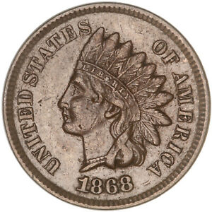 1868 INDIAN HEAD CENT EXTRA FINE PENNY XF
