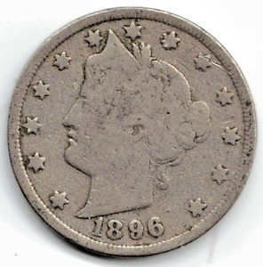 1896 LIBERTY NICKEL IN GOOD  CONDITION   PLEASE SEE THE SCAN      STK 5756