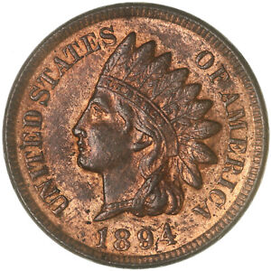 1894 INDIAN HEAD CENT UNCIRCULATED PENNY US COIN