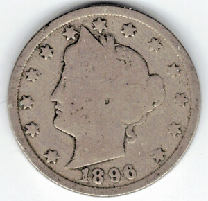 1896 LIBERTY NICKEL IN GOOD  CONDITION   PLEASE SEE THE SCAN      STK 5764