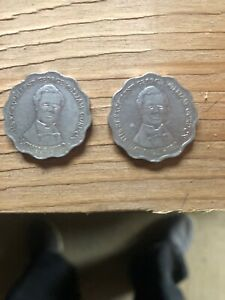 2 HIGH DENOMINATION $10 COINS FROM JAMAICA DATING 1999