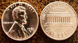 1961 D LINCOLN MEMORIAL CENT PENNY BRILLIANT UNCIRCULATED RED BU FROM ROLL
