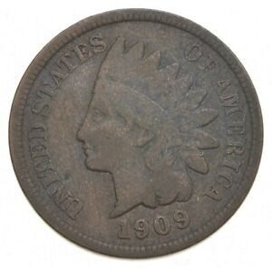 1909 S INDIAN HEAD CENT  9566