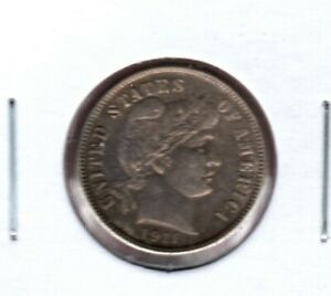 1911 BARBER DIME GRADES BRILLIANT UNCIRCULATED C2977