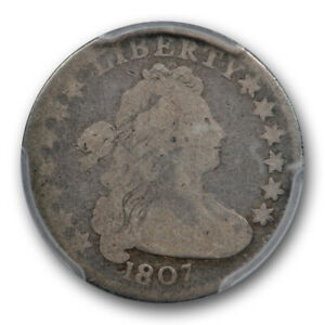 1807 10C DRAPED BUST DIME PCGS G 6 GOOD TO GOOD EARLY US TYPE COIN ORIGINAL