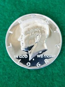 1968 S   KENNEDY HALF DOLLAR     UNCIRCULATED  PROOF   40  SILVER..