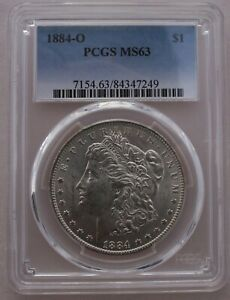 1884 O/O  PCGS GRADED MS63 VSS VAM 7A  FAR DATE PITTED DIE ED