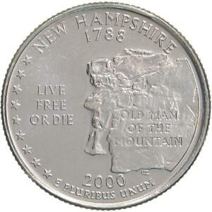 2000 D STATE QUARTER NEW HAMPSHIRE CHOICE BU CN CLAD US COIN