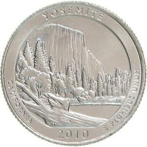2010 D PARKS QUARTER YOSEMITE ATB AMERICA THE BEAUTIFUL SATIN FINISH