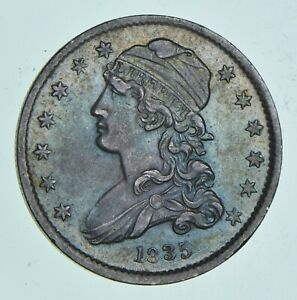 1835 CAPPED BUST QUARTER  4897