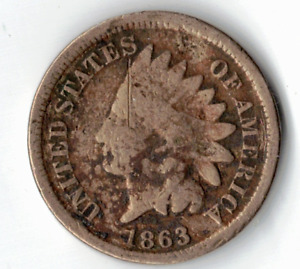 1863 INDIAN HEAD CENT IN GOOD CONDITION   PLEASE SEE THE SCAN    : STK A102