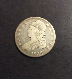 1833 CAPPED BUST HALF DOLLAR EARLY COLLECTOR SILVER 50C