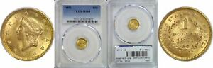 1851 $1 GOLD COIN PCGS MS 64