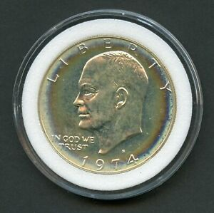UNITED STATES  1974 S PROOF SILVER EISENHOWER DOLLAR YOU DO THE GRADING