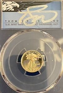 Click now to see the BUY IT NOW Price! $5 2020 W GOLD EAGLE PCGS PR70DCAM FIRST STRIKE SIGNED BY THOMAS S CLEVEL. POP10