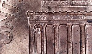 2005 D LINCOLN MEMORIAL PENNY DIE CHIP ERROR ON REVERSE FIRST COLUMN