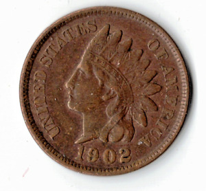 1902 INDIAN HEAD CENT IN EXTRA FINE CONDITION   PLEASE SEE THE SCAN   : STK Q 21