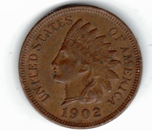 1902 INDIAN HEAD CENT IN EXTRA FINE CONDITION   PLEASE SEE THE SCAN   : STK Q 96
