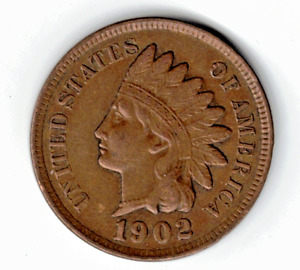 1902 INDIAN HEAD CENT IN BROWN UNCIRCULATED CONDITION : STK Q 31