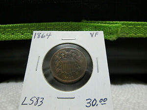 1864 VF 2 TWO CENT PIECE LOT L583