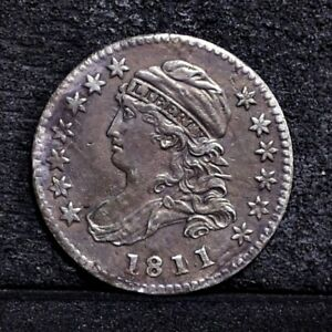 1811/9 BUST DIME   TONED XF  33793