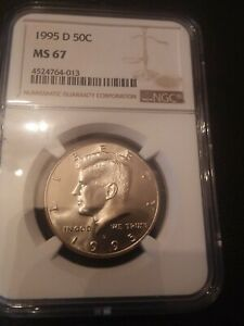 Click now to see the BUY IT NOW Price! 1995 D KENNEDY HALF DOLLAR NGC MS67     SUPERB BRILLIANT UNC