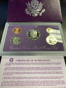 US MINT PROOF SET 1991 ORIGINAL PLUM PACKAGE WITH CERTIFICATE OF AUTHENTICITY