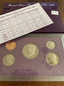 1989 S PROOF SET UNITED STATES US MINT ORIGINAL GOVERNMENT PACKAGING BOX