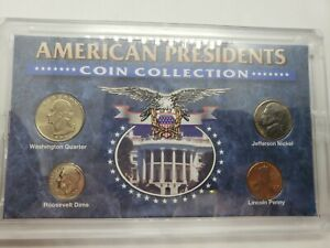 AMERICANA SERIES PRESIDENTS COLLECTION 4 COINS IN HOLDER