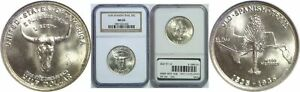 1935 SPANISH TRAIL SILVER COMMEMORATIVE NGC MS 65