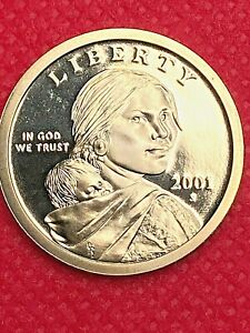 2001 S         SACAGAWEA   GEM FROM PROOF