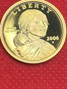 2006 S         SACAGAWEA   GEM FROM PROOF