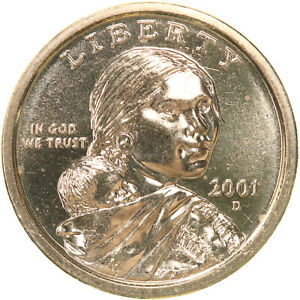 2001 D NATIVE AMERICAN SACAGAWEA BU DOLLAR US MINT COIN