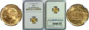1917 MCKINLEY $1 GOLD COMMEMORATIVE NGC MS 65