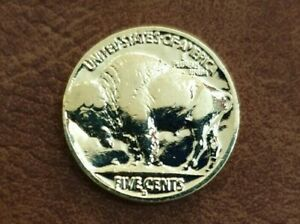 GOLD BUFFALO NICKEL   PURE 24K GOLD PLATED AUTHENTIC BUFFALO INDIAN HEAD NICKEL