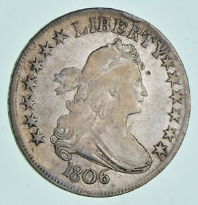 1806 DRAPED BUST HALF DOLLAR   R5  4919
