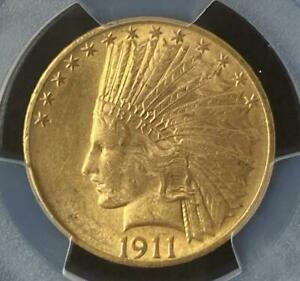 1911 $10 INDIAN PCGS MS63