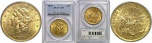 1878 S $20 LIBERTY GOLD COIN PCGS MS 60